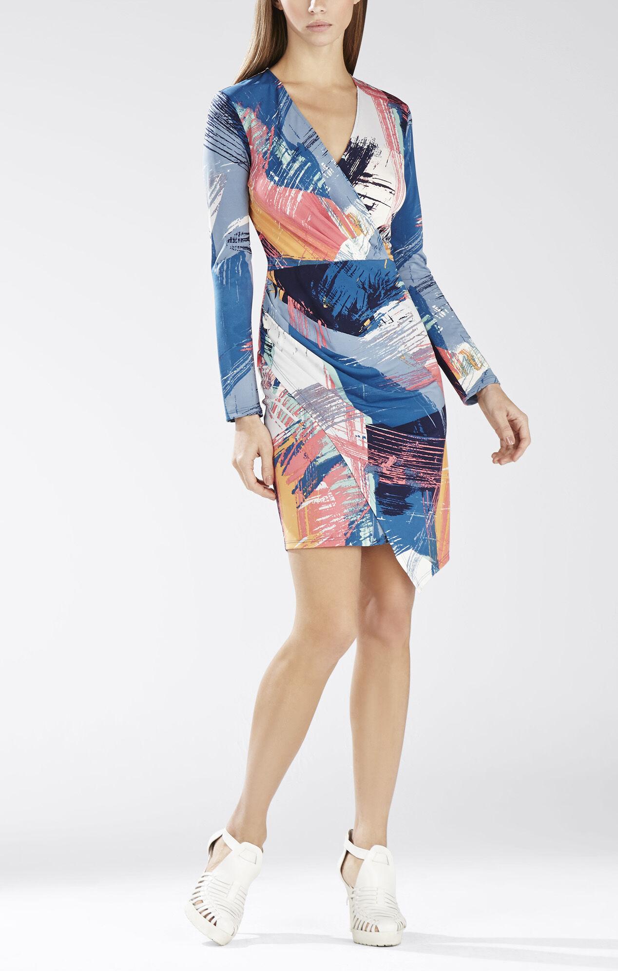 Blayr Asymmetrical Faux-Wrap Dress