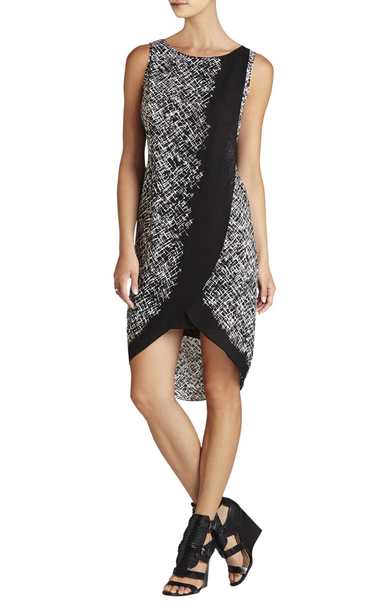 Audra Printed Asymmetrical Wrap Dress
