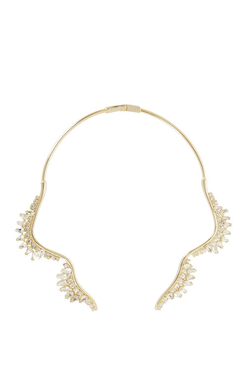 Scalloped Stone Collar Necklace