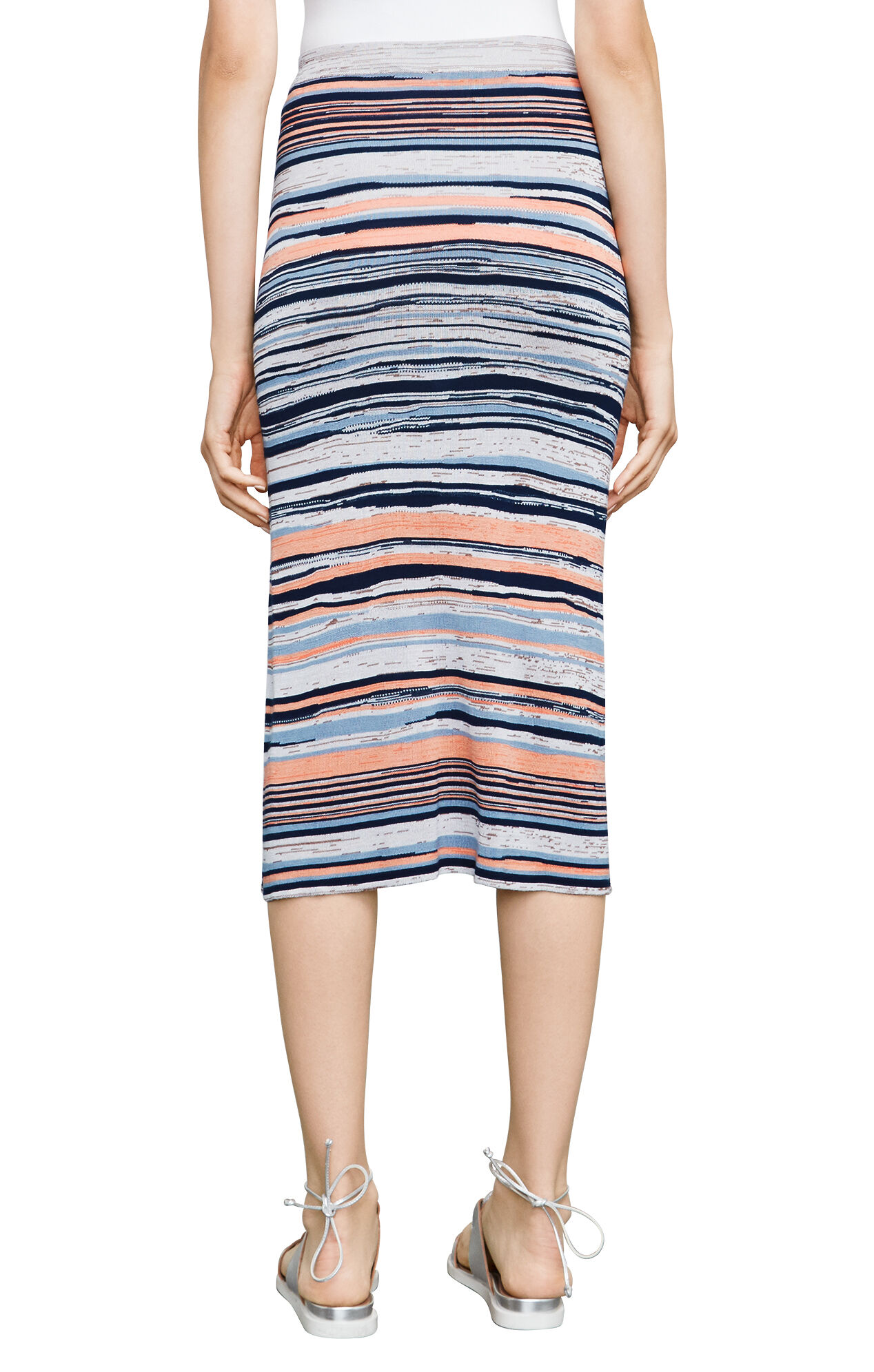 Emery Striped Midi Skirt