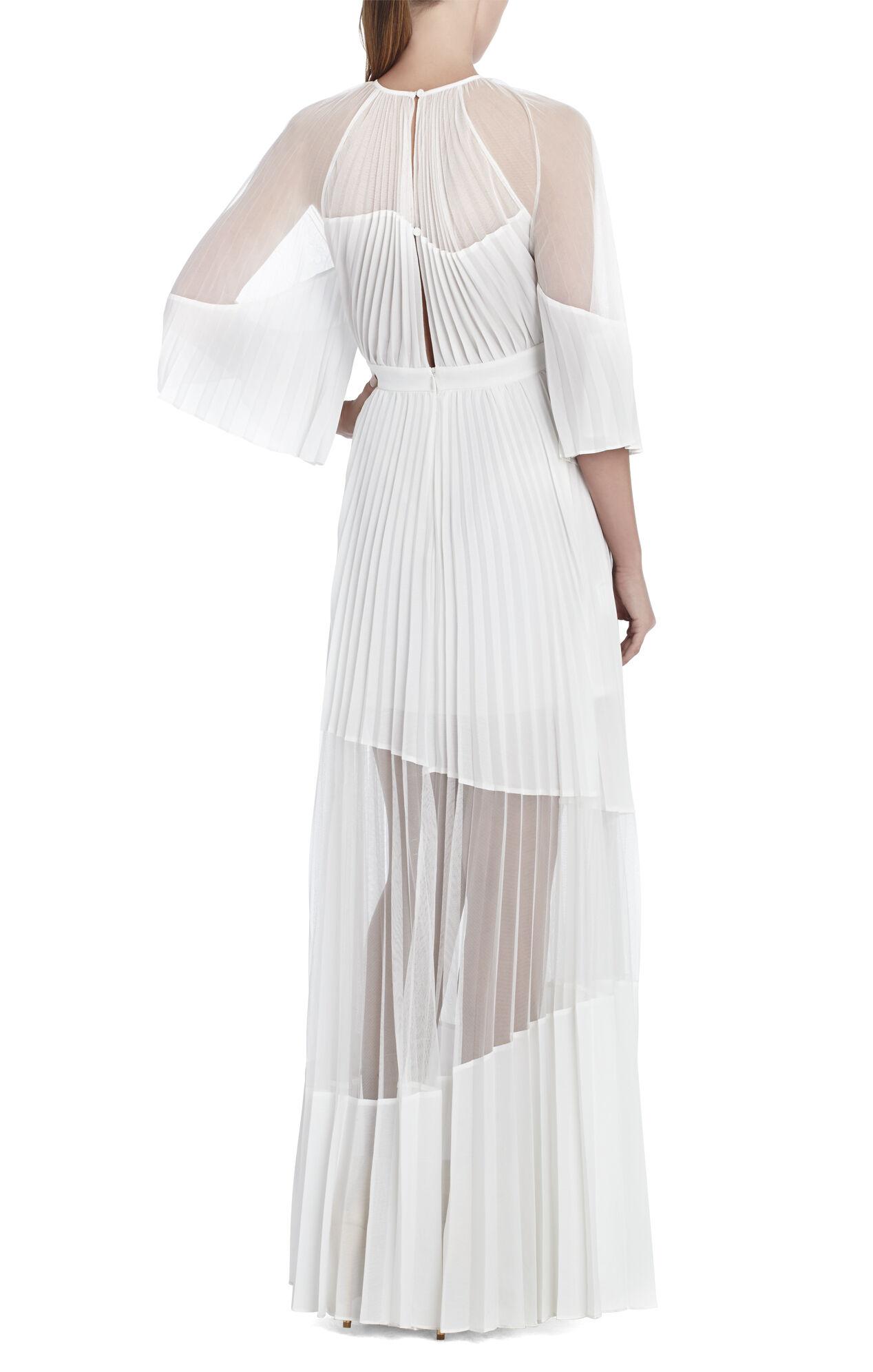 Riley Long Color-Blocked Sunburst-Pleat Dress