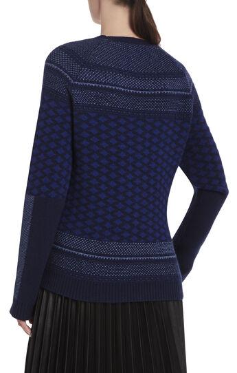 Reona Textured Jacquard Raglan Pullover
