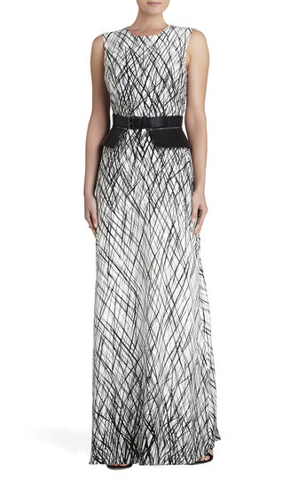 Chloey Sleeveless Printed Gown