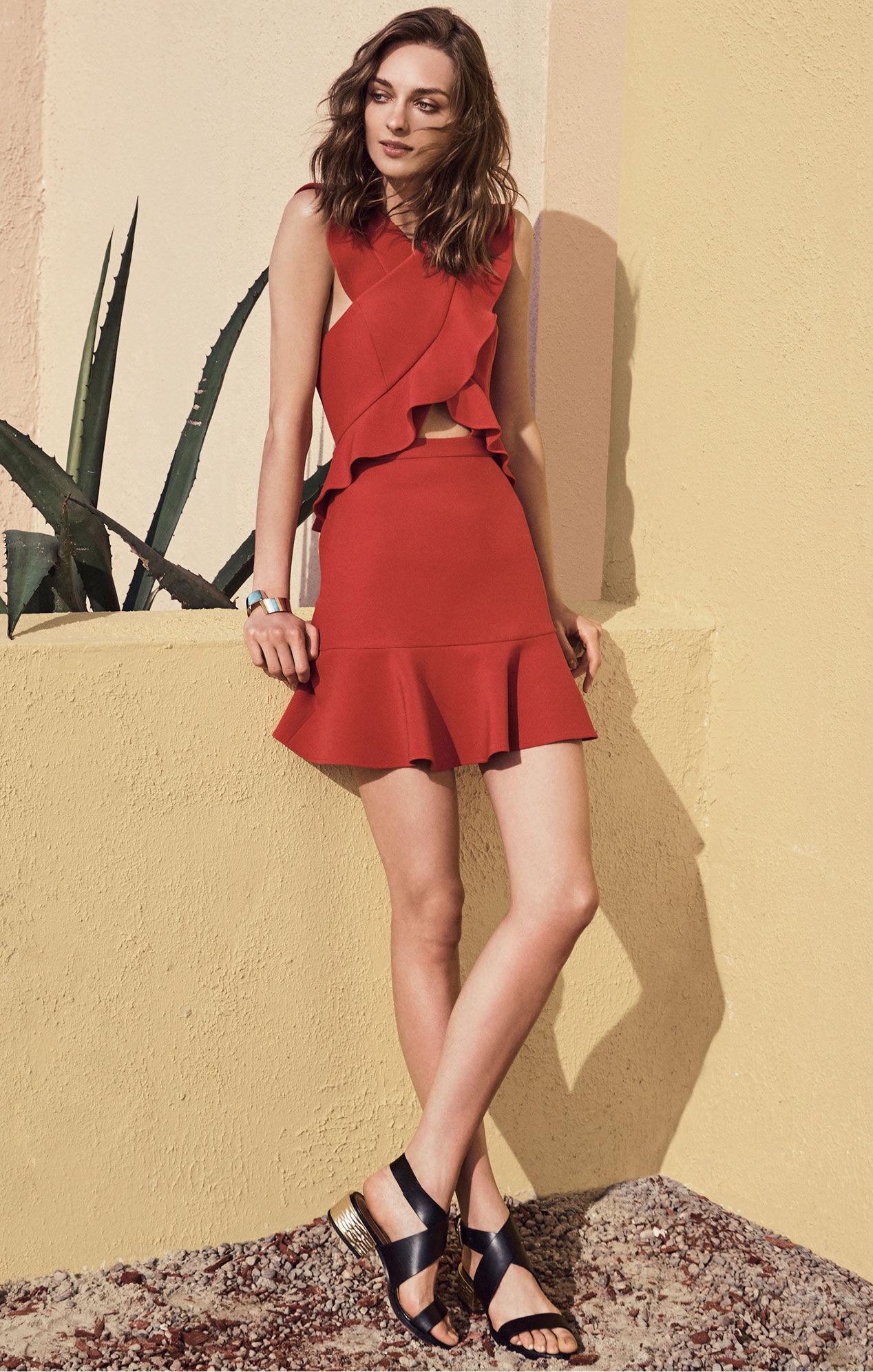 Careen Ruffled Cutout Dress