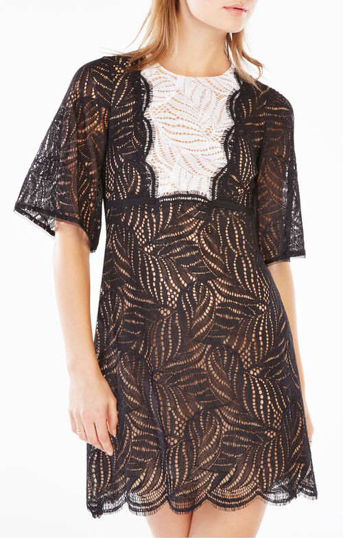 Lourin Lace Bib Dress