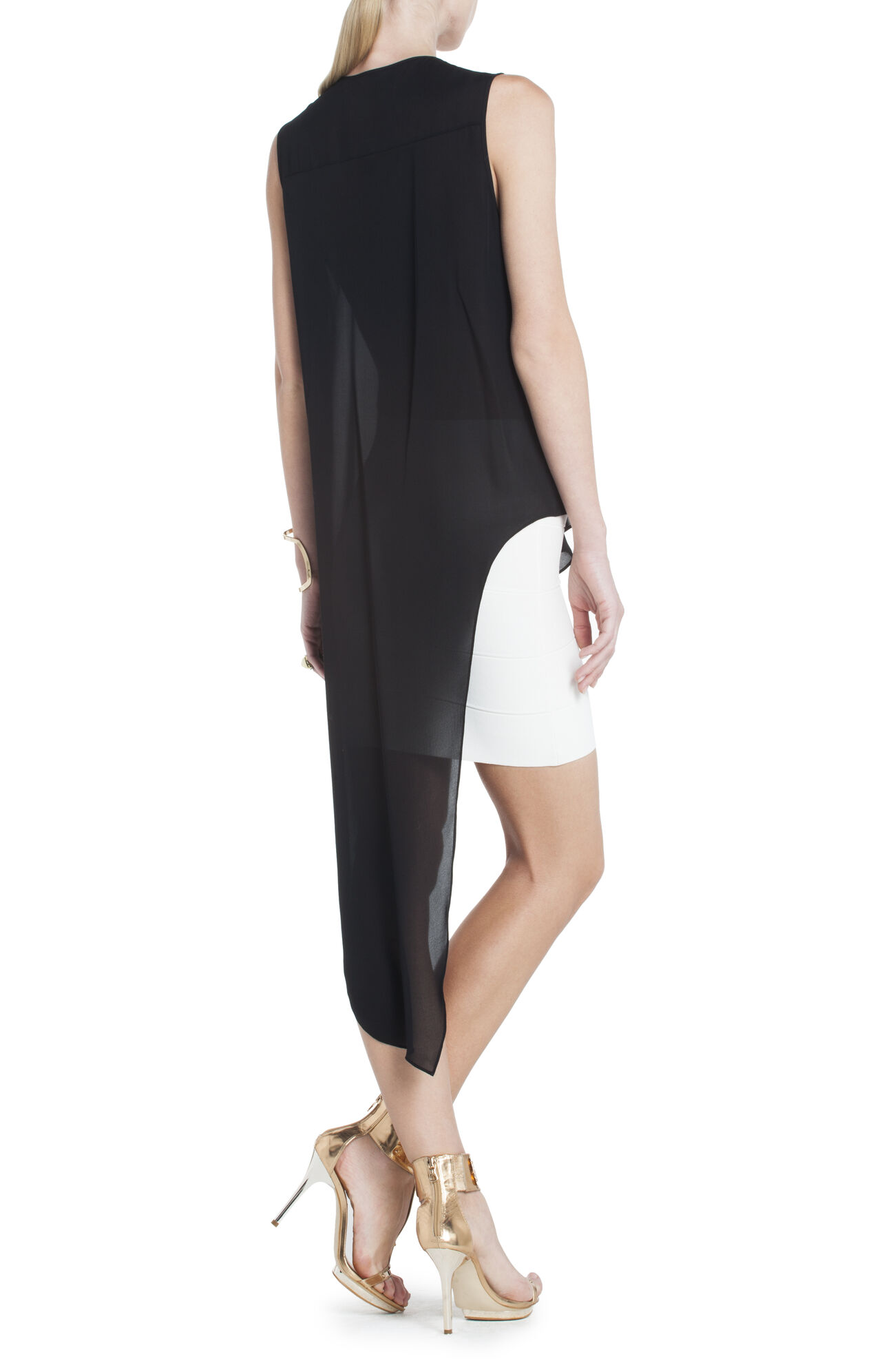 Cyprien Silk V-Neck Draped Top