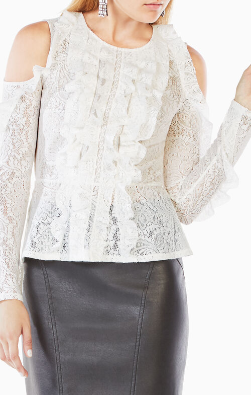 Maddy Cold-Shoulder Lace Top