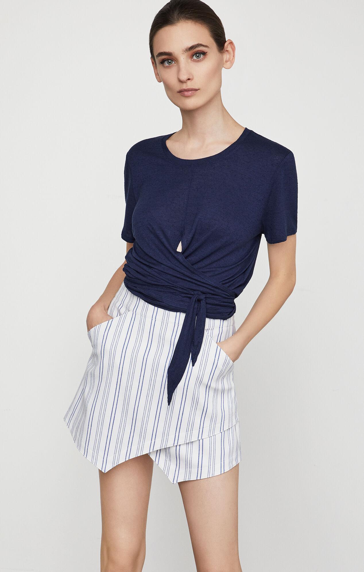 Beckett Striped Miniskirt