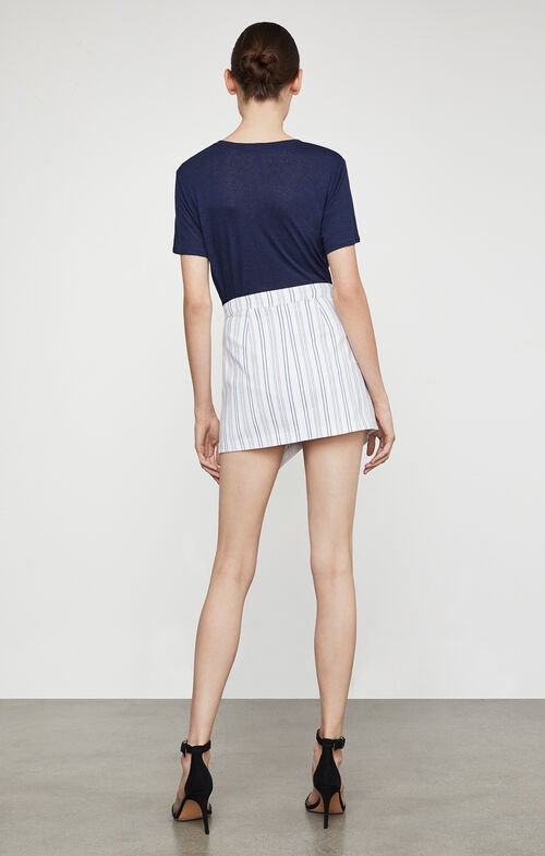 Beckett Striped Miniskirt