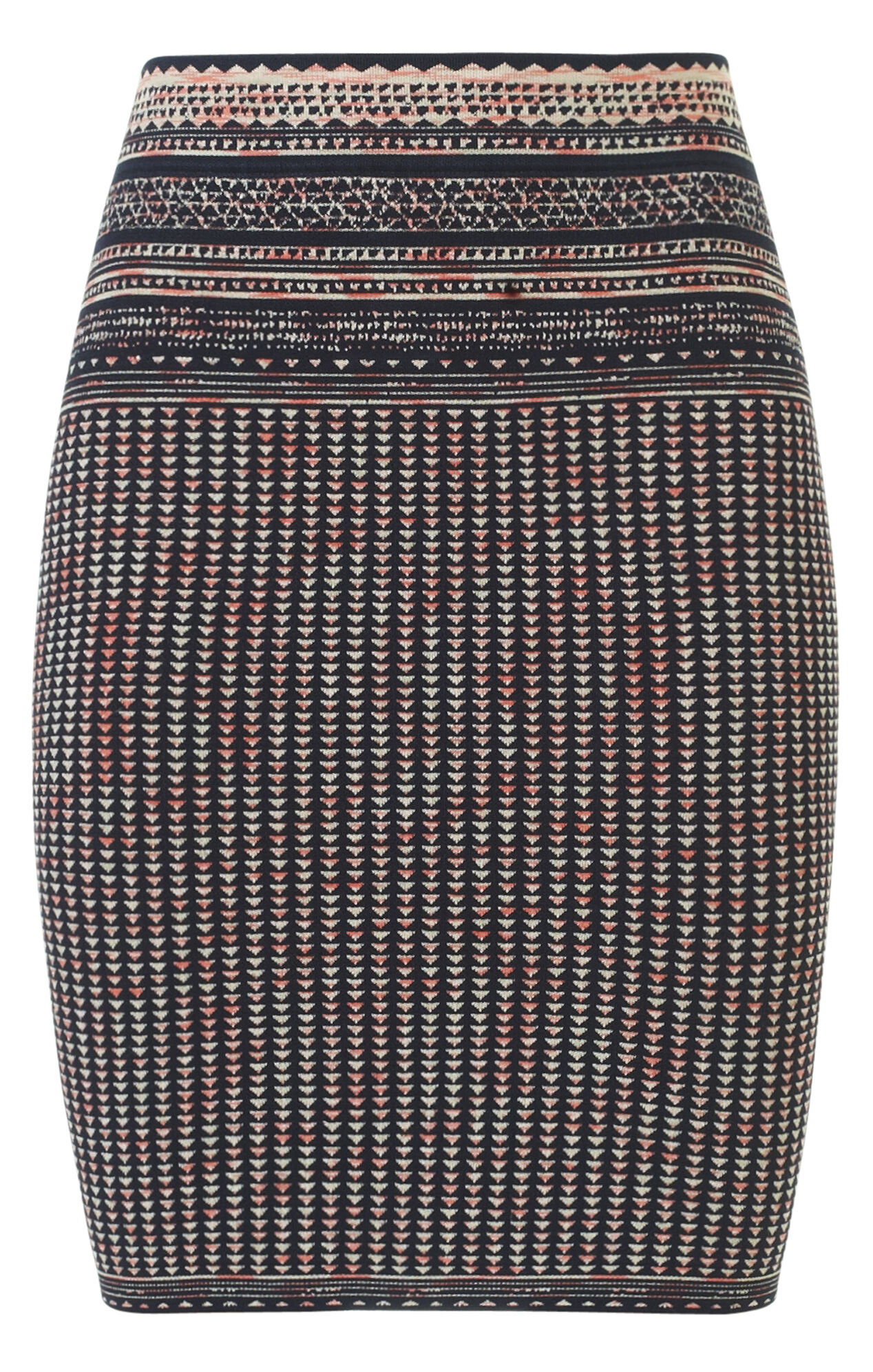 Pavel Textured Woodblock Jacquard Skirt