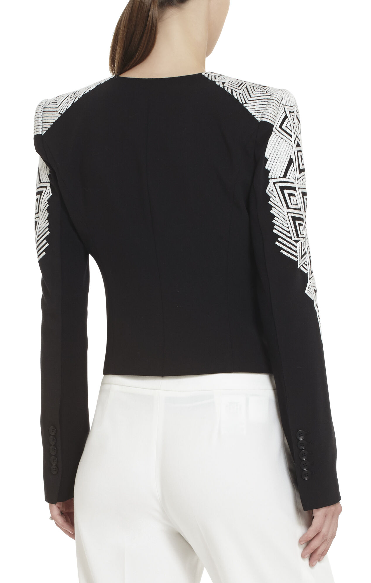 Abram Embroidered-Sleeve Jacket