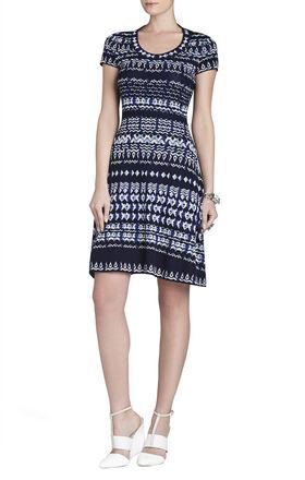 Hailee Tapestry-Jacquard Dress