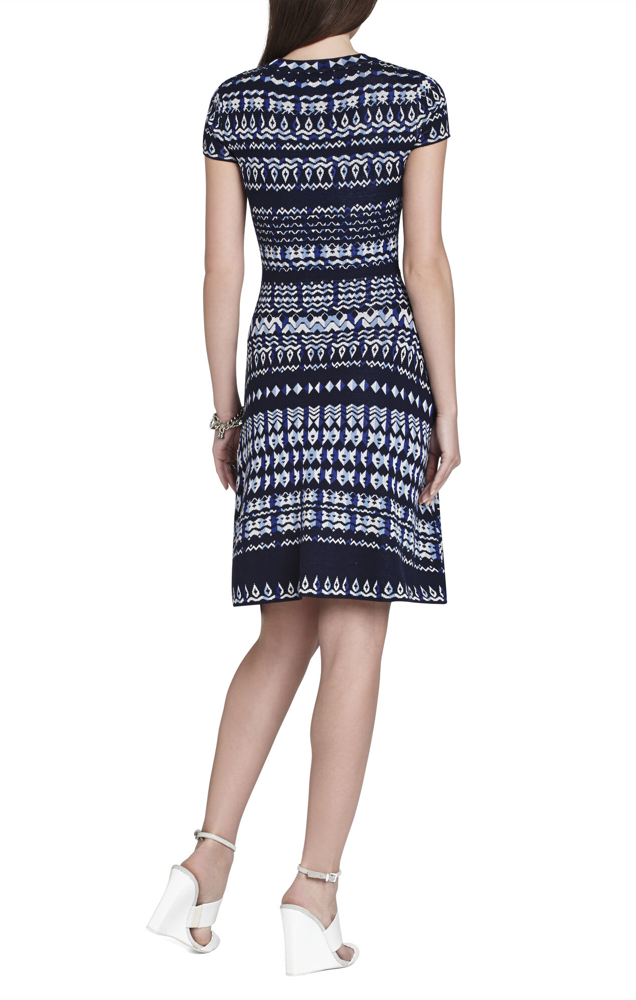 Hailee Tapestry-Jacquard Dress