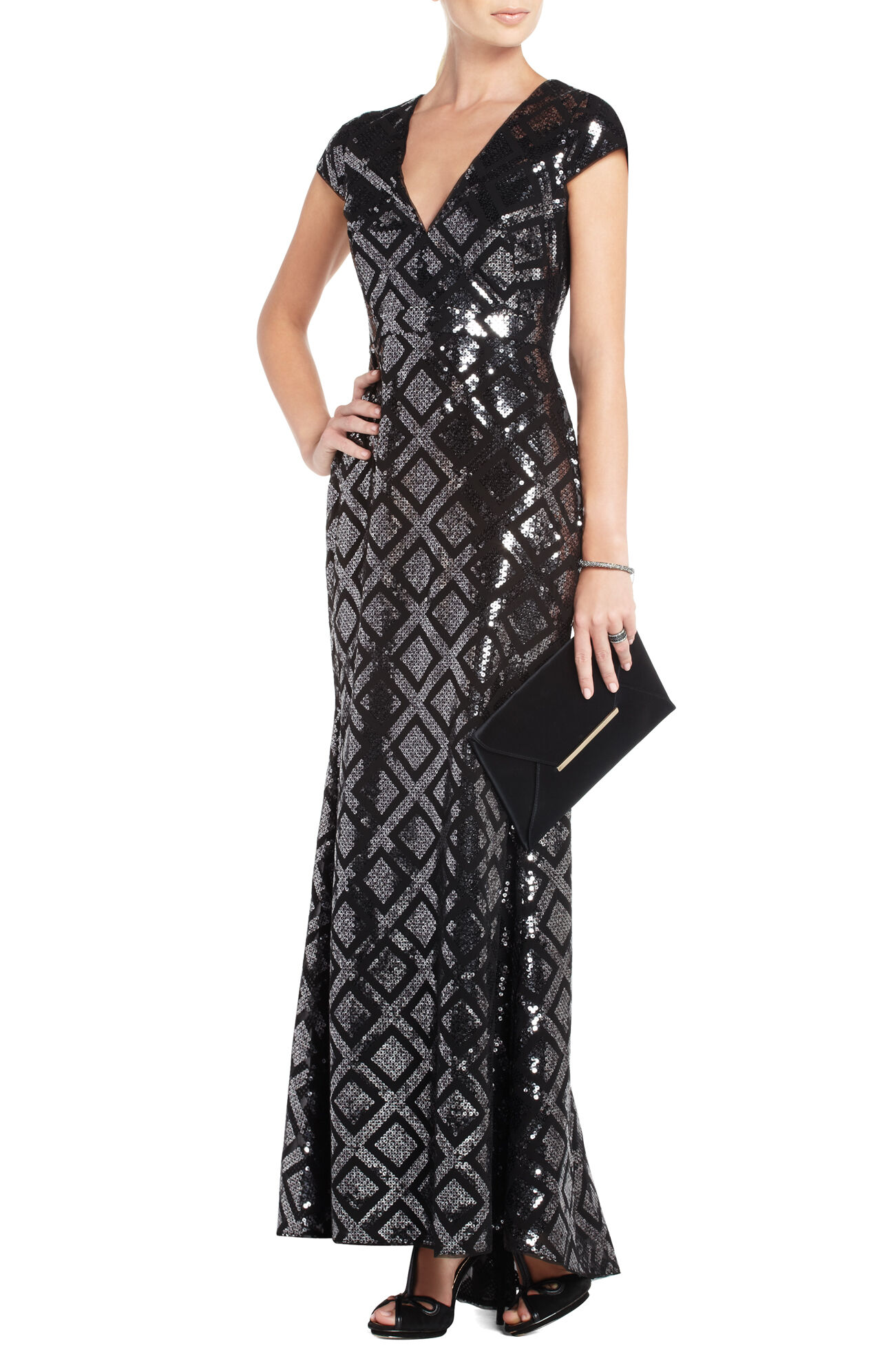 Skylah Sequined Evening Gown