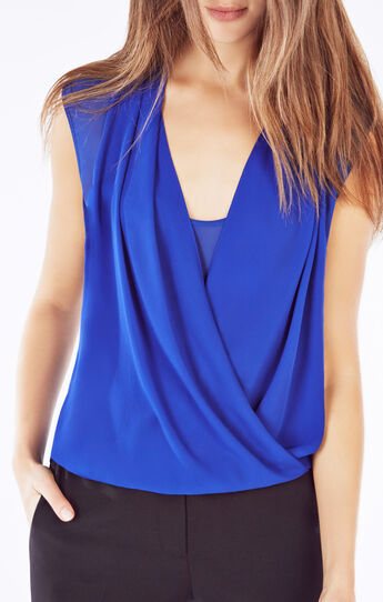 Remy Sleeveless Wrap Top