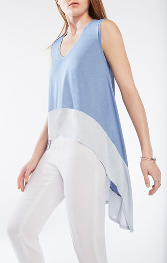 Adley Color-Blocked Asymmetrical Top