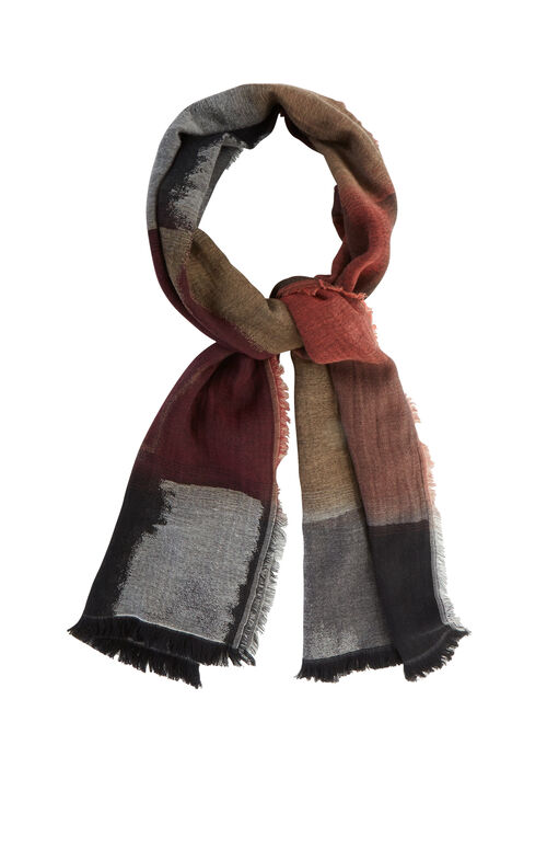 Color-Blocked Wrap Scarf