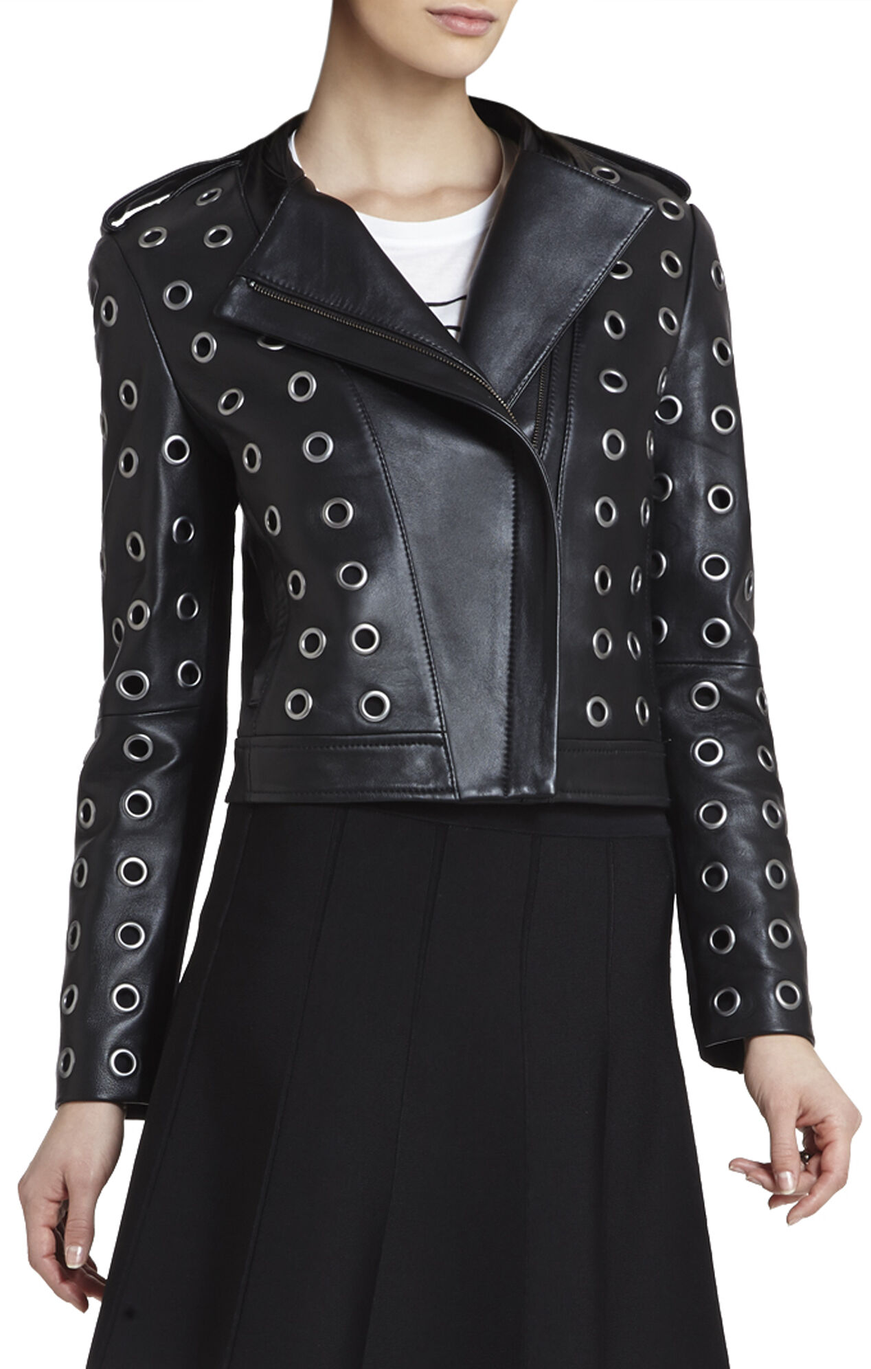 Baara Leather Moto Jacket