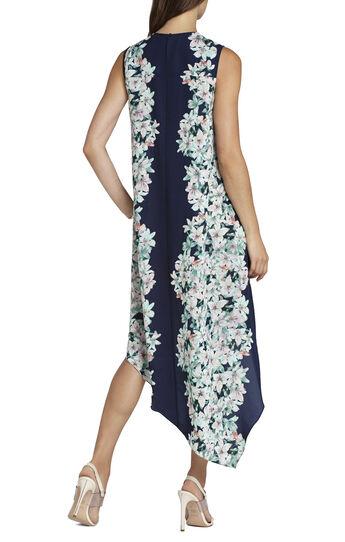 Helene Sleeveless Print-Blocked Dress
