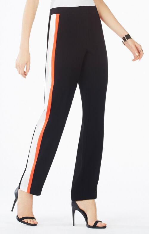 Leter Color-Blocked Slim-Leg Trouser