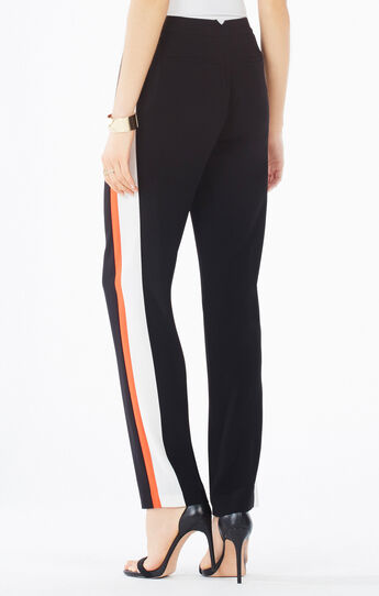 Leter Color-Blocked Slim-Leg Trouser