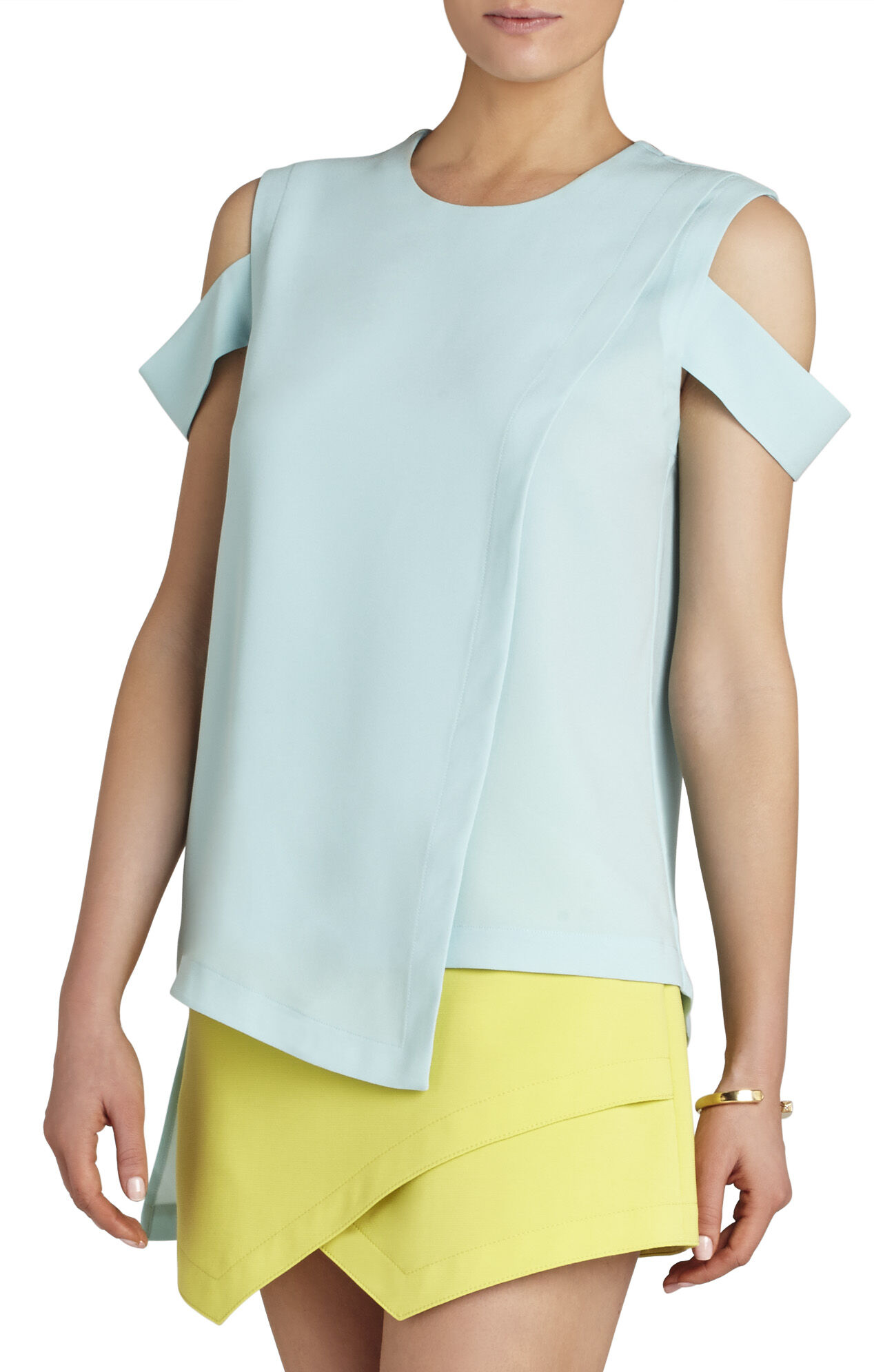 Bethy Sleeveless Asymmetrical-Hem Top