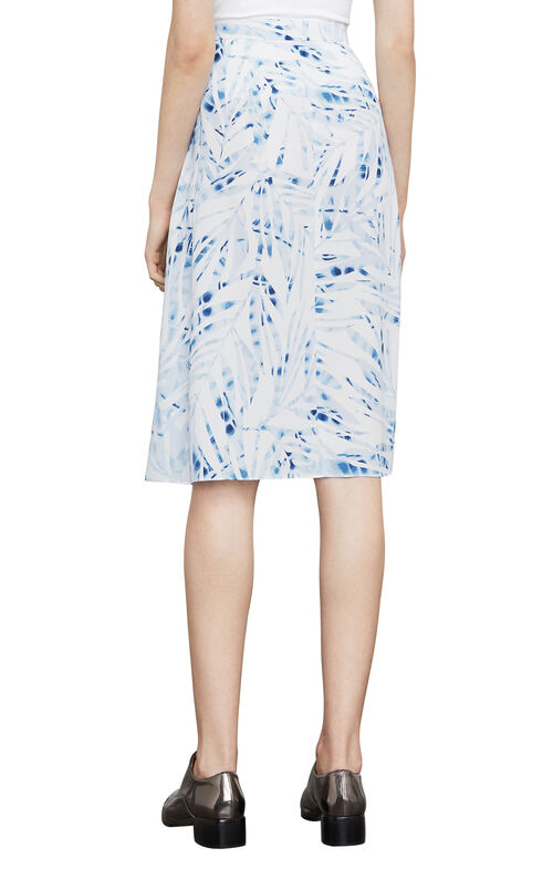 Aviva Palms-Print Wrap Skirt