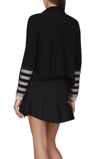 Caden Color-Block Striped Cardi-Wrap