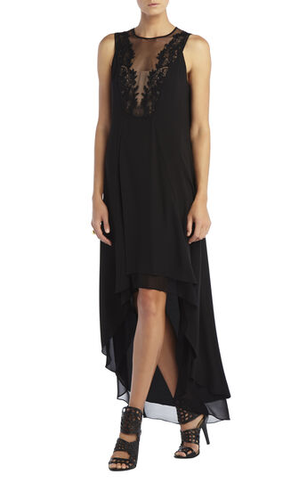 Cassidy Sleeveless Embroidered Lace Yoke Dress