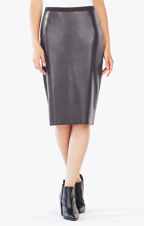 Bess Faux-Leather Pencil Skirt