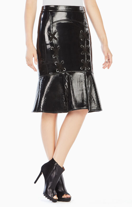 Tonia Faux-Leather Skirt