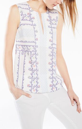 Torie Floral Print Asymmetrical Top