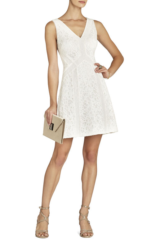 Gracie Lace-Block Dress