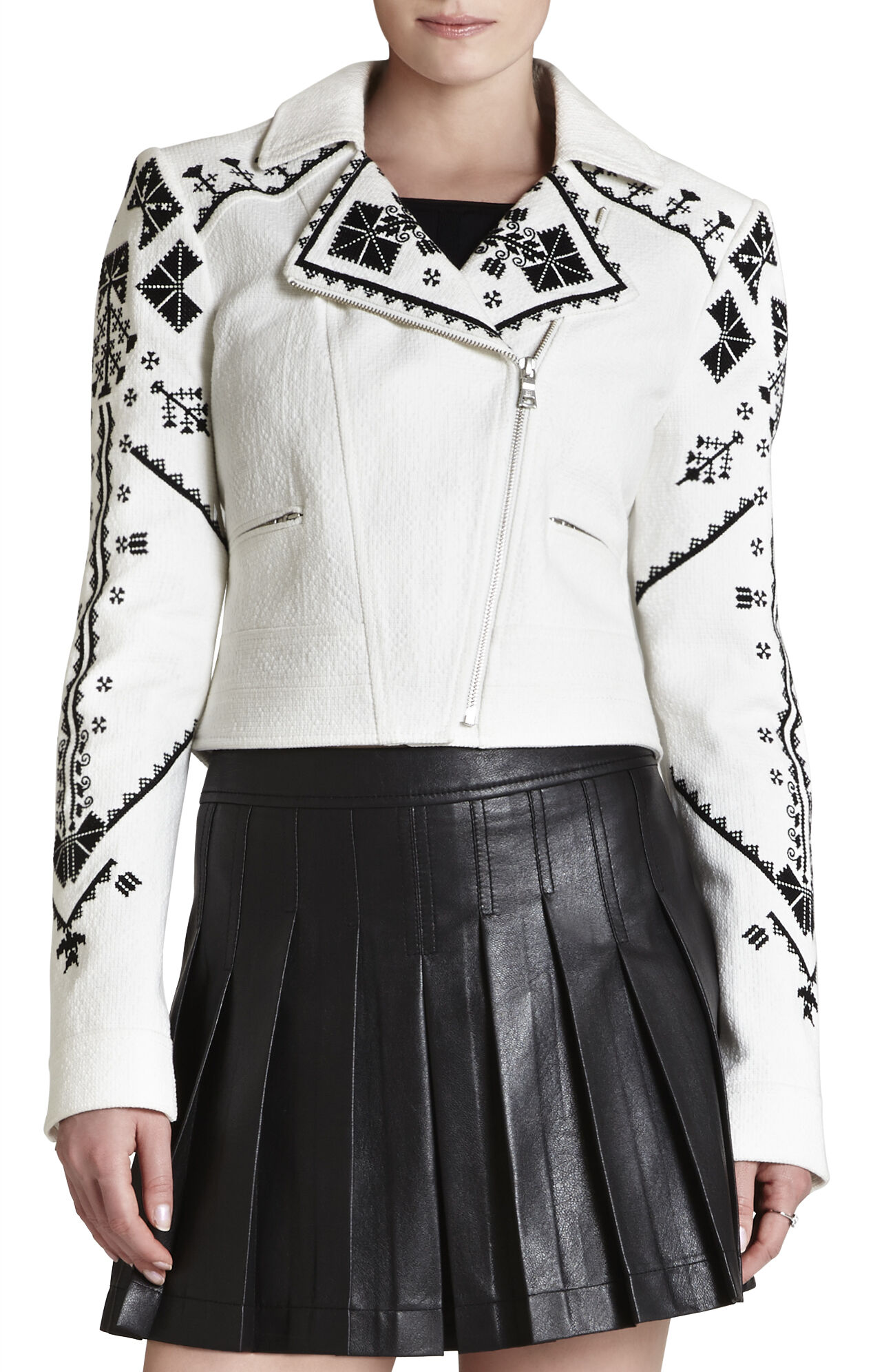 Kade Embroidered Moto Jacket