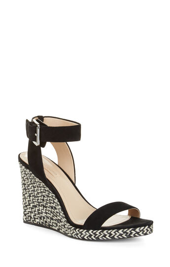 Lola High-Heel Suede Wedge Sandal
