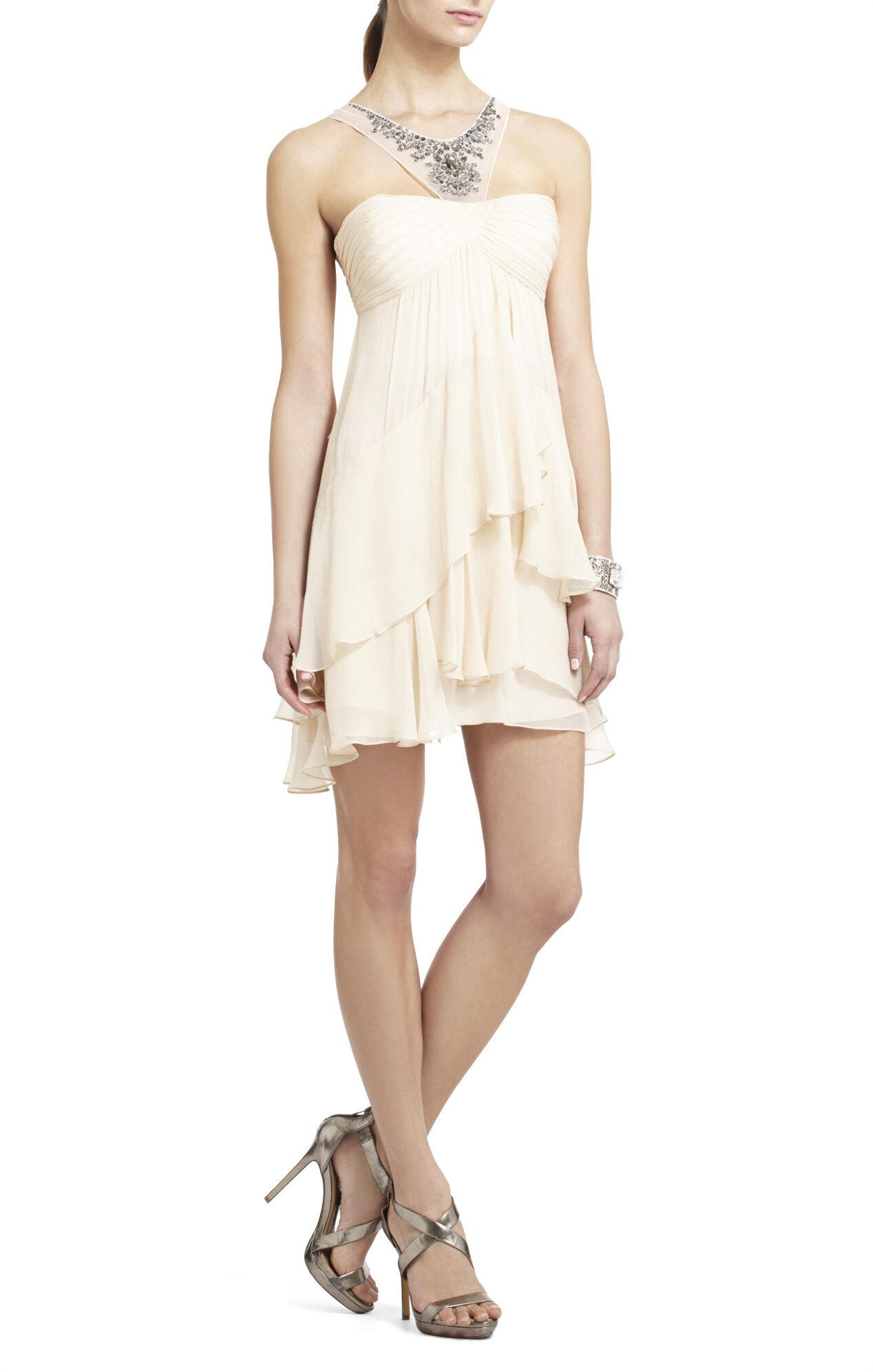 Joyce Beaded Silk Cocktail Dress