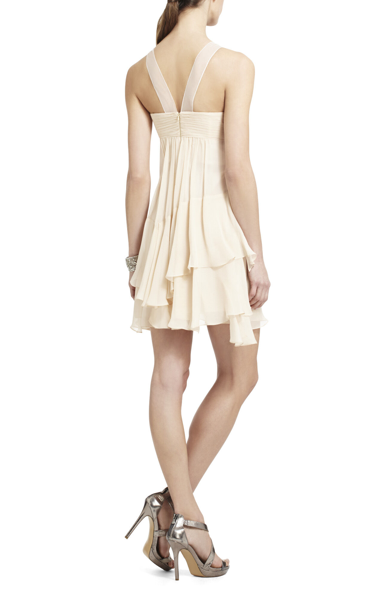 Joyce Beaded Silk Cocktail Dress