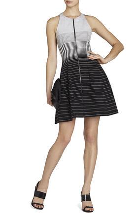 Giuliana Striped Tulip Dress