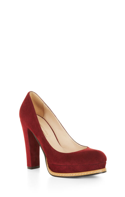 Lise High-Heel Suede Pump
