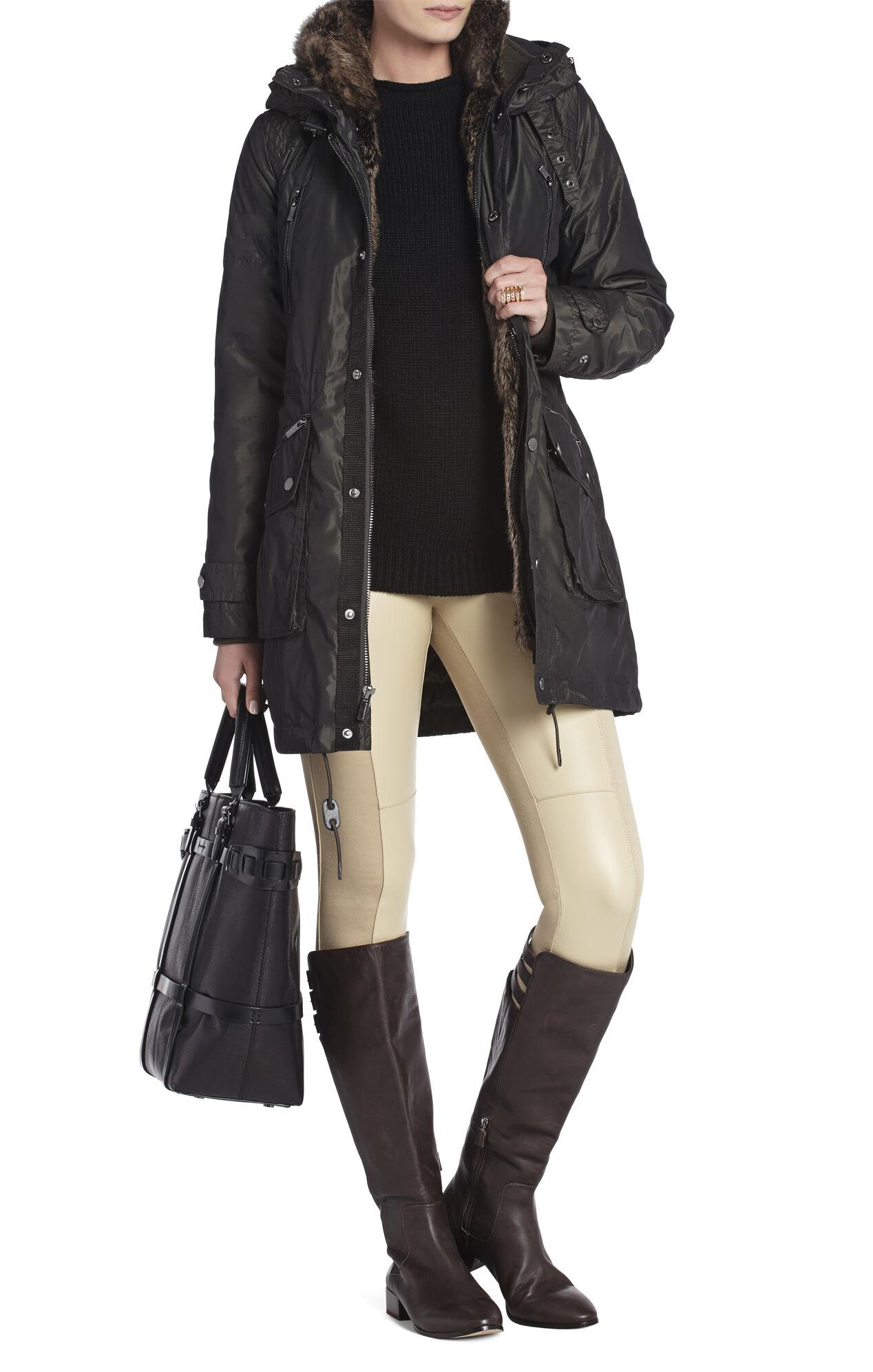Taylor Fur-Trimmed Anorak Coat