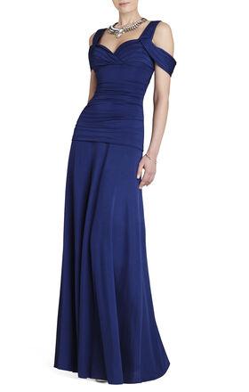 Nathalie Ruched-Bodice Knit Dress