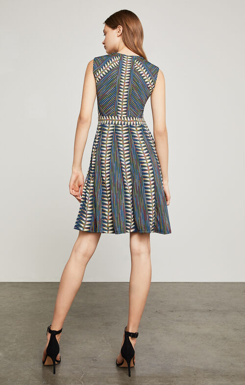 Rosalya Neon Triangles-Print Dress