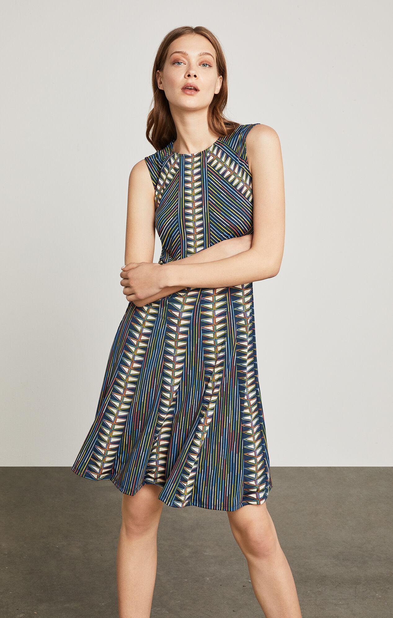 Rosalya Neon Triangles-Print Dress