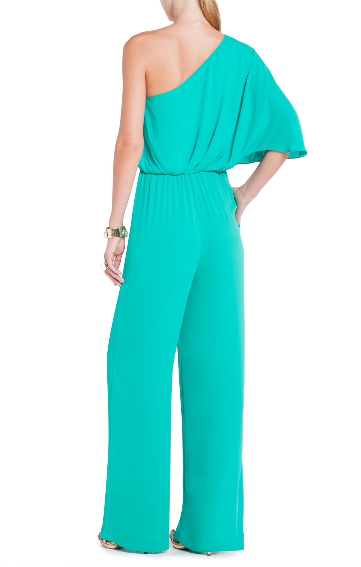 Leeo Draped One-Shoulder Jumpsuit