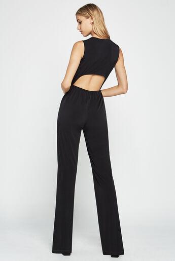 Surplice Open-Back Jumpsuit