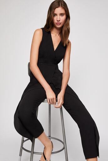 Sleeveless Wrap-Style Jumpsuit