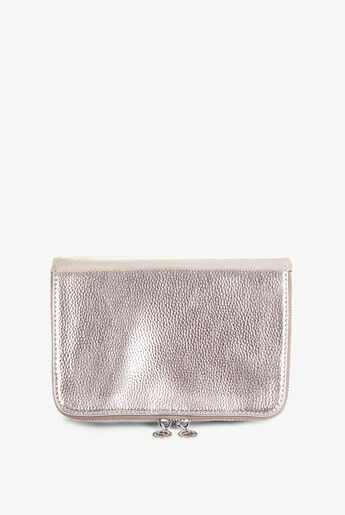 Metallic Faux-Leather Cross-Body