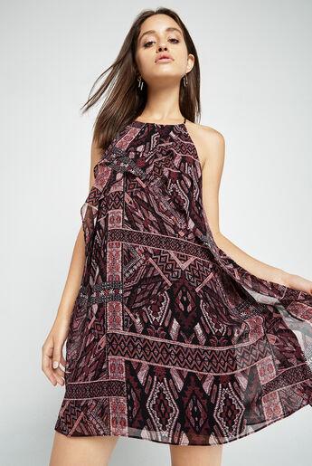 Ikat-Print Halter Dress