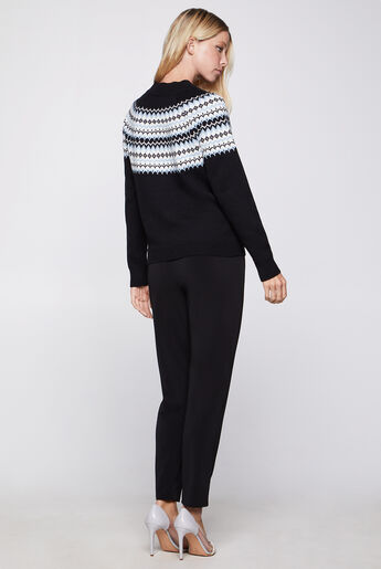 Flat-Front Faux-Fly Pant
