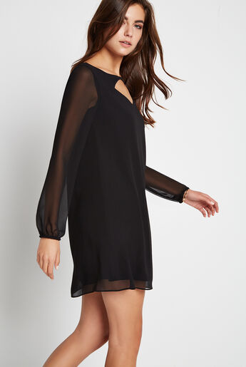 Cutout Detail Shirt Dress